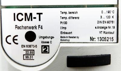 Kamstrup ICM-T ICMT Rechenwerk F4 1305215 0 - 190° C  PT100 DIN EN 60751 -used- – Bild 3