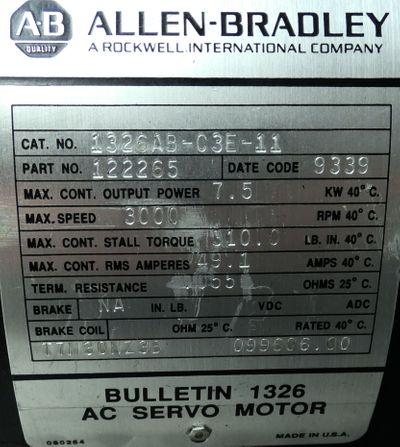 Allen Bradley 1326AB-C3E-11   1326ABC3E11  Servomotor - unused - – Bild 2