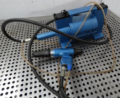 POP  TT1B  TT 1 B  pneumatische Blindnietzange mit Kompressor -unused- – Bild 1