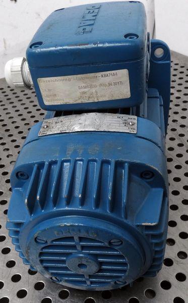 Demag KBA 71 A4  KBA71A4 Motor 220V  0,37KW  1370r/min + Mitnehmerscheibe -used- – Bild 5