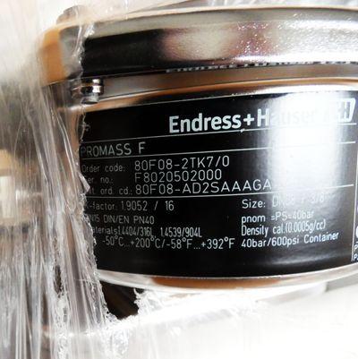 Endress+Hauser PROMASS F 80F08-2TK7/0 80F08-AD2SAAAGAAA8 40bar 600psi-unused/OVP – Bild 3