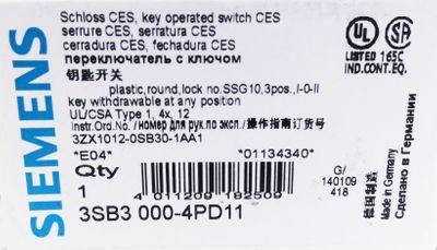 Siemens 3SB3 000-4PD11 3SB3 000-4PD11 E: 04 Schloss CES -unused/OVP- – Bild 3