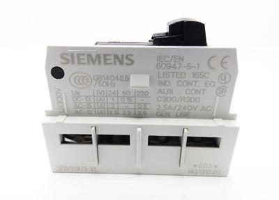 10x Siemens 3RV1901-1E 1NO+1NC E-Stand: 03 Hilfsschalter -unused/OVP- – Bild 3