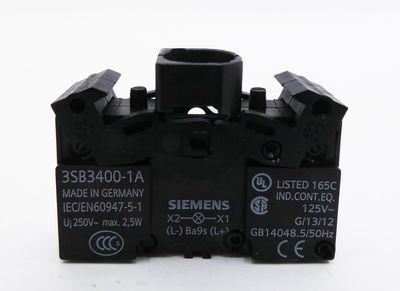 20x Siemens 3SB3400-1A 3SB3 400-1A E: 02 Lampenfassung Lampholder -unused/OVP- – Bild 2