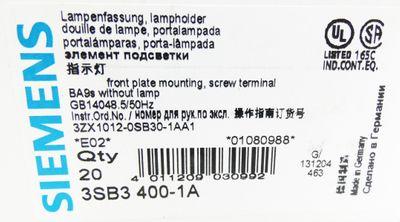 20x Siemens 3SB3400-1A 3SB3 400-1A E: 02 Lampenfassung Lampholder -unused/OVP- – Bild 3