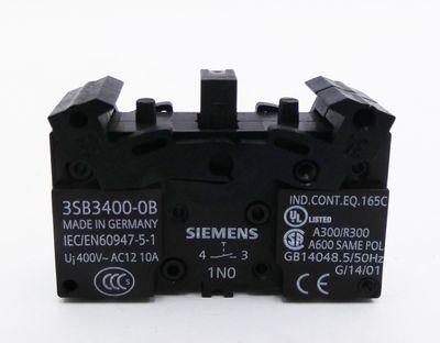 20x Siemens 3SB3 400-0B 3SB3400-0B E: 02 1NO Schaltelement  -unused/OVP- – Bild 2