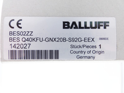 Balluff BES Q40KFU-GNX20B-S92G-EEX BESQ40KFUGNX20BS92GEEX Sensor -unused/OVP- – Bild 2