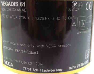 Vega VEGADIS 61 DIS61.CXAMAB Gabelkontakt Füllstandsensor-Anzeige -unused/OVP- – Bild 6