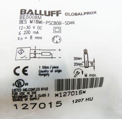 BALLUFF BES008M BES M18MI-PSC80B-S04K  12-30VDC  Induktiver Sensor -unused/OVP-  – Bild 3