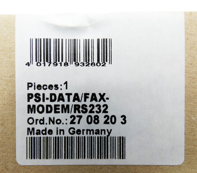 Phoenix Contact PSI-DATA/FAX-MODEM/RS232 2708203 -sealed- – Bild 3