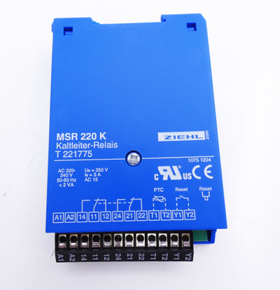 Ziehl MSR 220 K MSR220K MSR-220-K T221775 Kaltleiter-Relais -unused/OVP- – Bild 3
