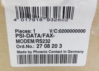 Phoenix Contact PSI-DATA/FAX-MODEM/RS232 27 08 20 3 2708203 -unused/OVP- – Bild 3