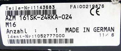 Schmersal AZM 161SK-24RKA-024-M16 1052777000 Sicherheitsschalter -unused/OVP- – Bild 3