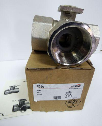 "Belimo   R350 DN50 RP 2"" kvs 49   3-Wege Ventil   -unused/OVP- – Bild 1"