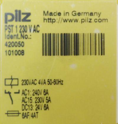 Pilz PST 1 PST1 230 V AC 420050 Sicherheitsrelais -unused/OVP- – Bild 2