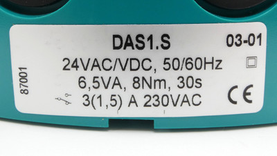 Joventa DAS1.S DAS1-S 24VAC/DC 6,5VA 8Nm 30S Stellantrieb -unused/OVP- – Bild 4