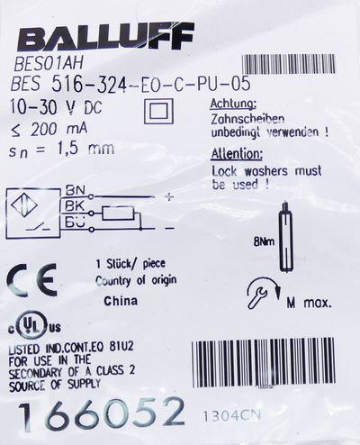 Balluff BES 516-324-E0-C-PU-05 BES516324E0CPU05 Induktiver Sensor -unused/OVP- – Bild 2