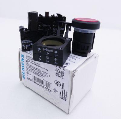 Siemens 3SB3 247-0AA21-0CC0 E: 04 Drucktaster Push- Button  -unused/OVP-  – Bild 1