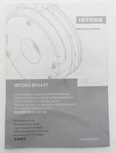 4x INTORQ BFK457-10 Federkraftbremse 00412803 24VDC 23NM 30W -unused/OVP- – Bild 6