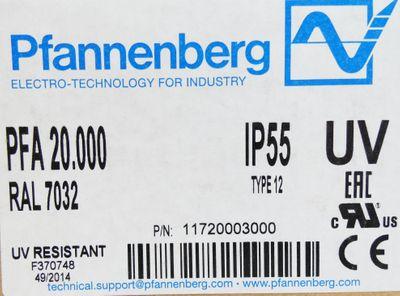 Pfannenberg PFA 20.000 RAL 7032 IP55 Austrittsfilter -unused/OVP- – Bild 3