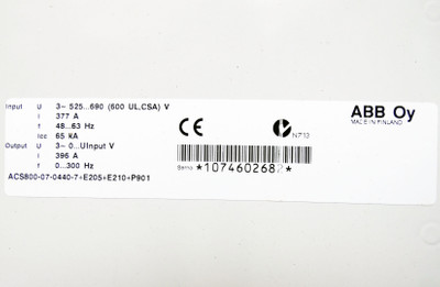 ABB Oy ACS800-07-0440-7+E205+E210+P901 396A 0-300 Hz Frequenzumrichter -unused- – Bild 3