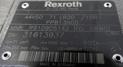 Rexroth  A4 VS0 71LR2D/10R-PPB13N00 Axialkolbenpumpe / Hydraulikpumpe - unused- – Bild 2