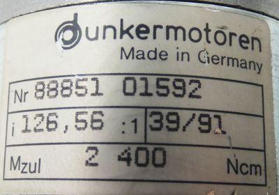 Bautz E 540 MC Gleichstromservomotor + Dunkermotoren Getriebe i=126,56 -used- – Bild 6