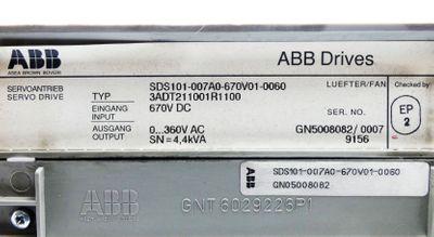 ABB SDS 100 SDS101-007A0-670V01-0060 3ADT211001R1100 4,4kVA + EPROM -used- – Bild 3