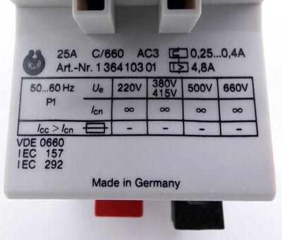 Schiele MSU-K0040 Einstellber. 0,25-0,4A Motorschutzschalter -unused/OVP- – Bild 5