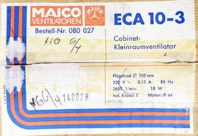 Maico ECA 10-3 Ø105mm 220V 2600 1/min 18W Cabinet-Ventilator -unused/OVP – Bild 4
