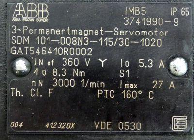ABB SDM101-008N3-115/30-1020 GAT546410R0002 Servomotor -used- – Bild 3