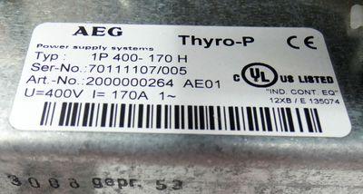 AEG Thro-P 1P 400-170H 400V 170A 2000000264 Steuergerät -used- – Bild 3
