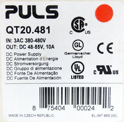 Puls Dimension QT20.481 DC 48-55V 10A DC Power Supply -unused/OVP- – Bild 3