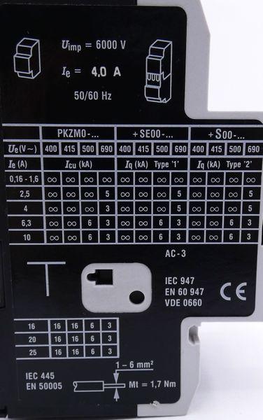 2x Klöckner-Moeller PKZM0-4 + NHI11-PKZ0 Motorschutzschalter -used- – Bild 4