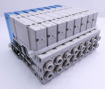 8x SMC SY5200-5U1 Ventile + Ventilinseln -unused- – Bild 1