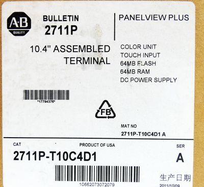 """Allen Bradley PanelView Plus 2711P-T10C4D1 Ser A 10.4"""" Color Touch -unused/OVP- – Bild 3"""