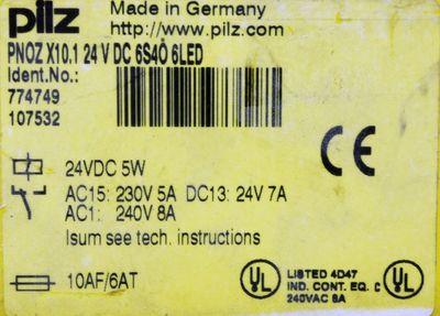 Pilz PNOZ X10.1 24V DC 6S4Ö 6LED 774749 Sicherheitsrelais -used- – Bild 2