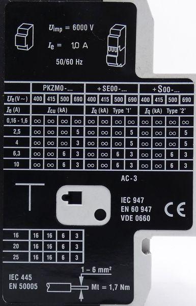 2x Klöckner-Moeller PKZM0-1 + NHI11-PKZ0 Motorschutzschalter + Hilfsschütz -used- – Bild 2