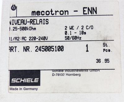Schiele ENN Mecotron 2.450.051.00 Niveau Relais 25-500kOhm -unused/OVP-  – Bild 3