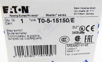 Eaton T0-5-15150/E Step Switch Stufenschalter -unused/OVP- – Bild 3