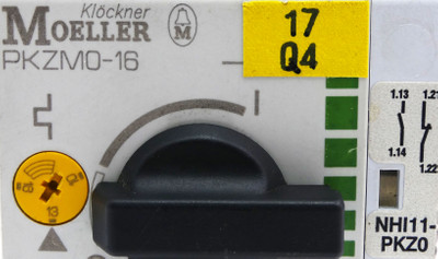 2x Klöckner Moeller PKZM0-16 Motorschutzschalter +NHI11-PKZ0 Hilfsschütz -used- – Bild 2