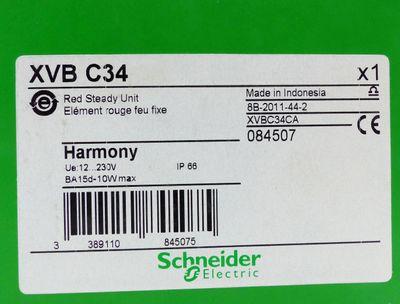 2x Schneider electric XVB C34 084507 Red Steady Unit -unused/OVP-  – Bild 2