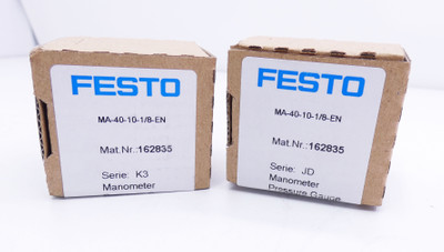 2x Festo MA-40-10-1/8-EN Manometer 0-10Bar -sealed- – Bild 1
