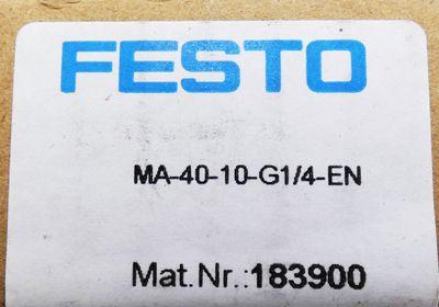 5x Festo MA-40-10-G1/4-EN 183900 0-10 bar 0-140 psi Manometer -unused/OVP- – Bild 3