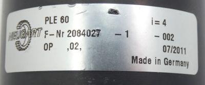Neugart PLE 60 Getriebe i=4 -used- – Bild 3