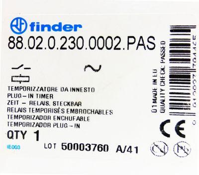 Finder 88.02.0.230.0002.PAS 24-230V DC 0,05s-100h Zeitrelais -unused/OVP- – Bild 3