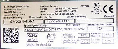 Kollmorgen S700 S71202-NANANA 12A 9kVA HW:02.10 SW: 5.50 + Lüfter  -unused/OVP- – Bild 4