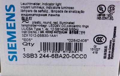 3x Siemens 3SB3244-6BA20-0CC0 E-Stand: 05 Leuchtmelder -unused/OVP- – Bild 2
