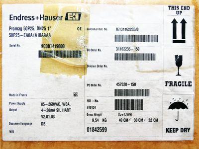"Endress+Hauser PROMAG 50P25 DN25 1"" 50P25-EA0A1A10AAAA V2.01.03 -unused/OVP- – Bild 3"