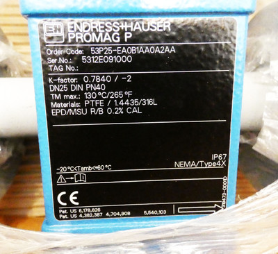 Endress+Hauser PROMAG P 53P25-EA0B1AA0A2AA DN25 DIN PN40 Durchflussmesser-unused – Bild 3